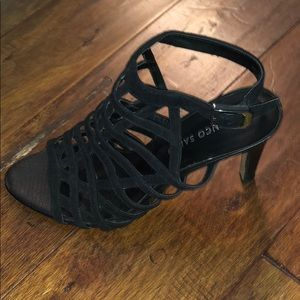 Franco Sarto black 3inch heels.